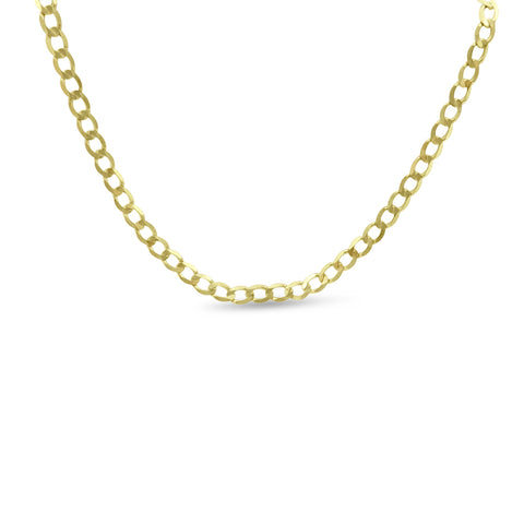9ct Yellow Gold Fine Curb Chain Necklace 23""