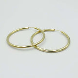 9ct Yellow Gold Large Sleeper Hoop Earrings 35mm