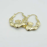 9ct Claddagh Hoop Earrings 20mm