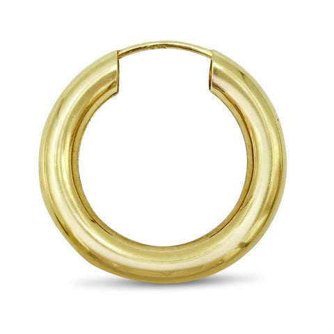 9ct Yellow Gold Single Sleeper Hoop Earring
