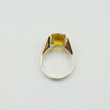 9ct Yellow Gold Citrine Cocktail Ring Size O