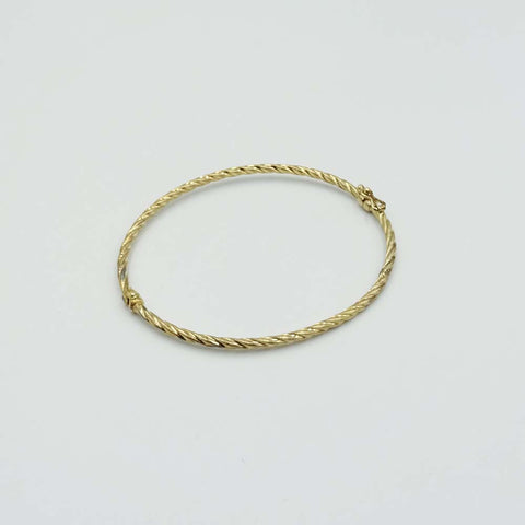 9ct Yellow Gold Twist Bangle