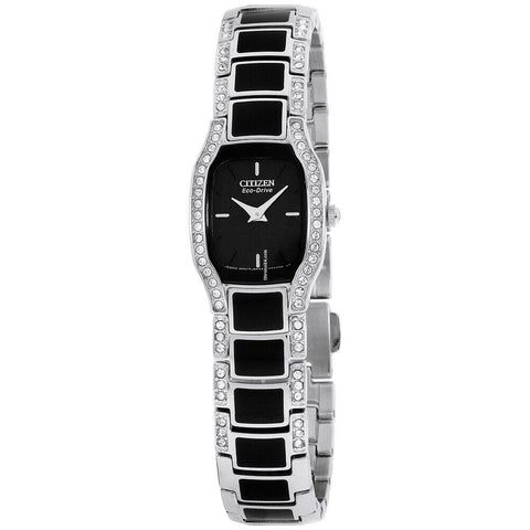 Citizen Ladies Swarovski Black Art Deco Silhouette Watch EW9780-57E RRP £189