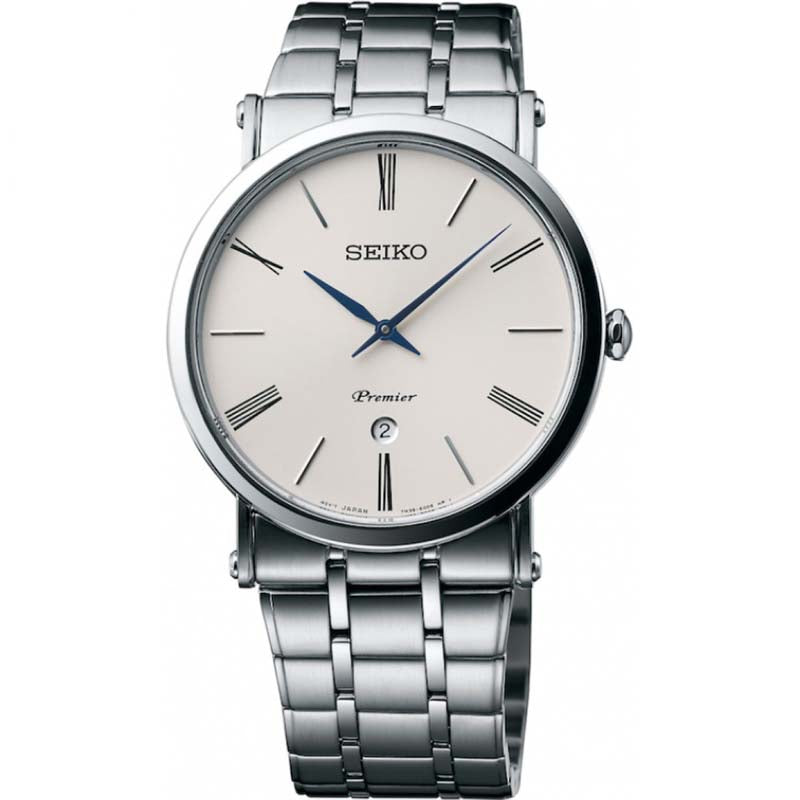 Seiko Gents Stainless Steel Premier Watch SKP391P1