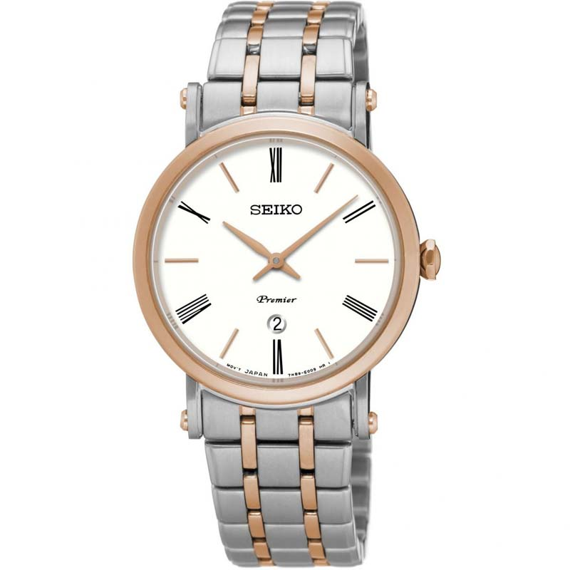 Seiko Ladies Two Tone Premier Watch SXB430P1 - Richard Miles Jewellers