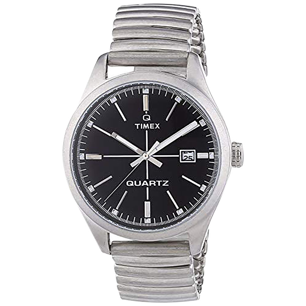 Timex T2N399ZB Original Men's Watch With Black Dial Expansion Band - Richard Miles Jewellers
