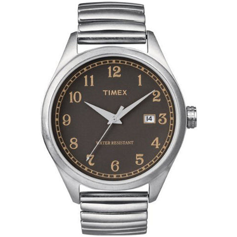 Timex T2N400ZB Original Men's Watch With Brown Dial Expansion Band