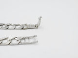 9ct White Gold Kids Fancy & Plain Curb ID Engraving Bracelet 6inch 11.5g
