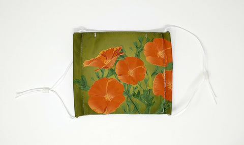 California Poppies Face Mask