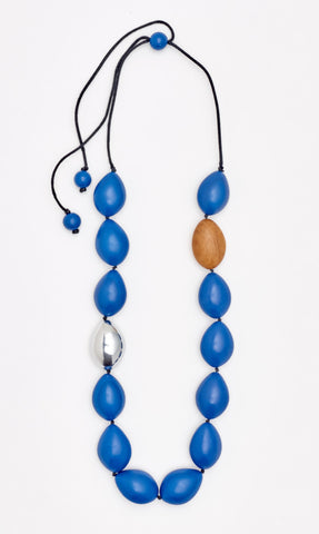 Atlantis Pod Necklace Marine Blue