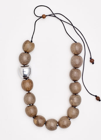 Sahara Pod Wood Necklace
