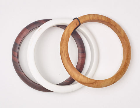 Atlantis Thin Bangles Natural