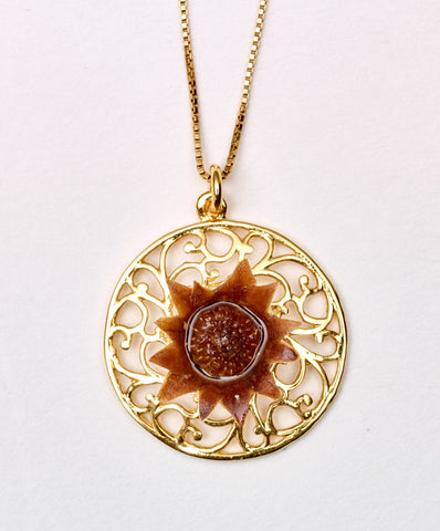Mandala Lace Blessing Flower Necklace