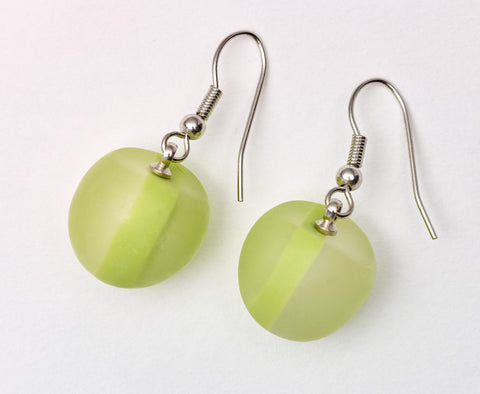 Sahara Pod Earrings Lime