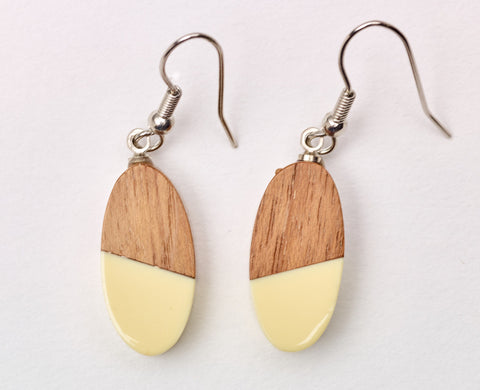 South Pacific Frangipani Earrings Beige
