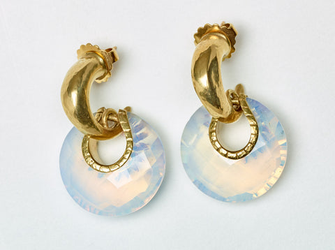 Vaubel Circle Stone Earrings