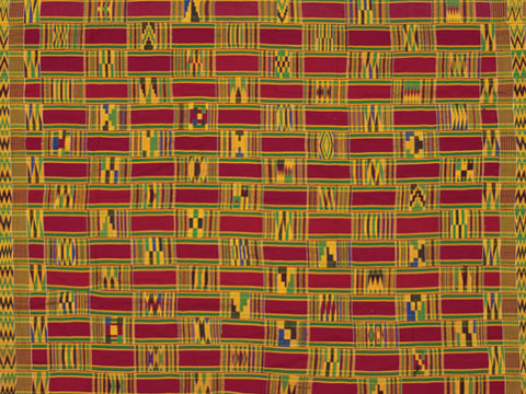 Woman's Kente Postcard