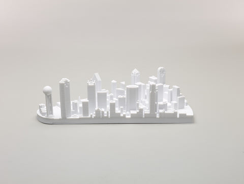 Downtown Dallas 3D Printed Model