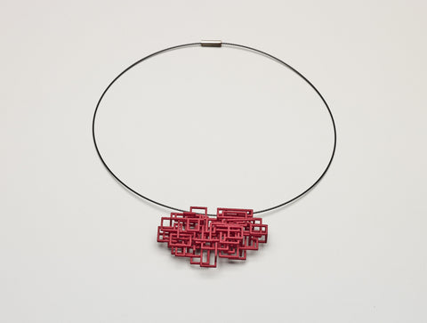 Open Square Pendant Red
