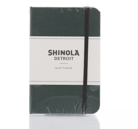 Shinola Small Hard Linen Notebook Forest Pine