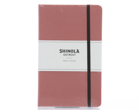 Shinola Medium Hard Linen Notebook Salmon Pink