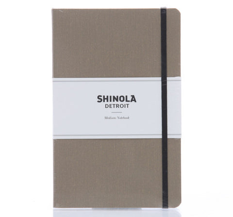 Shinola Medium Soft Linen Notebook Praline