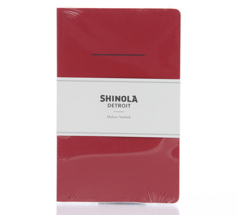 Shinola Medium Paper Notebook Red