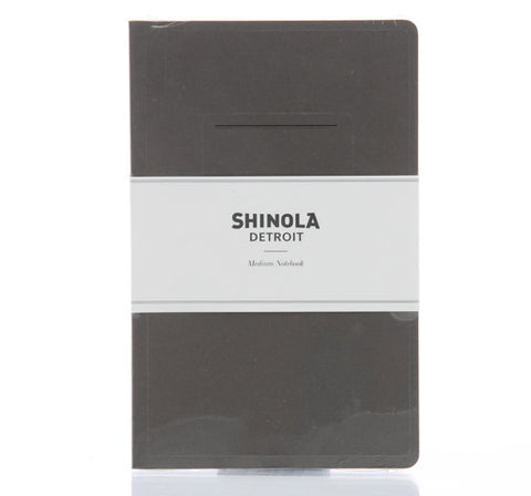 Shinola Medium Paper Notebook Jet Black