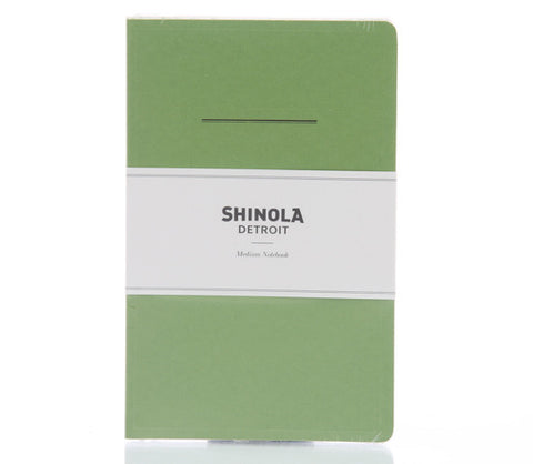 Shinola Medium Paper Notebook Green