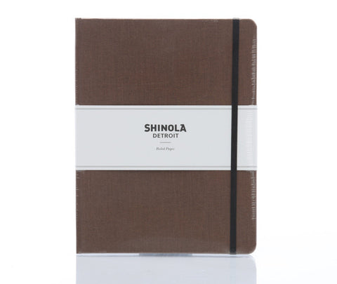 Shinola Large Hard Linen Notebook Hickory