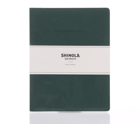 Shinola Large Paper Notebook Forest Green