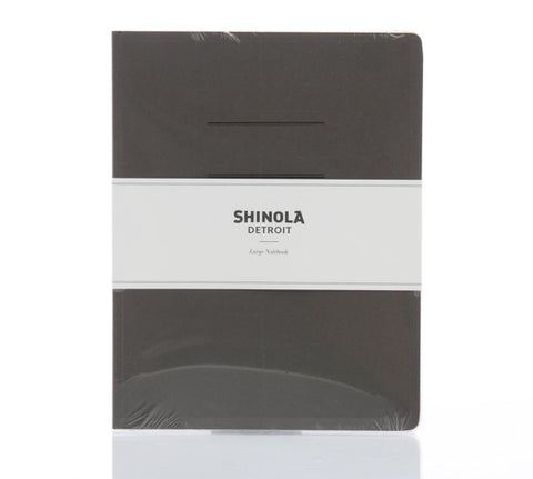 Shinola Large Paper Notebook Gray