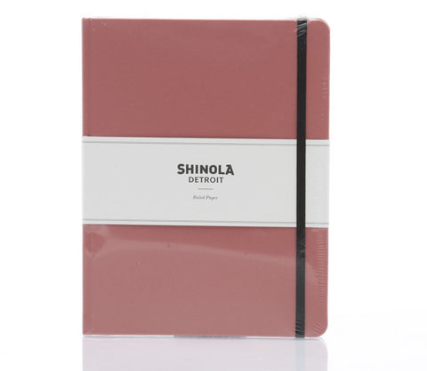 Shinola Large Hard Linen Notebook Salmon Pink
