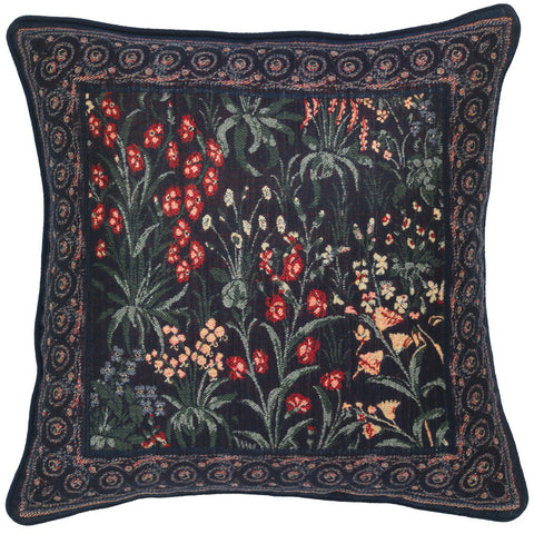 Medieval Millefleurs Pillow Cover