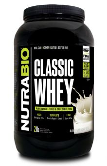 NutraBio - Whey Protein, Unflavored (2 pounds)