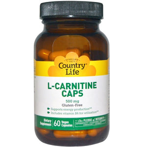 Country Life - Acetyl L-Carnitine 500mg (60 vc)