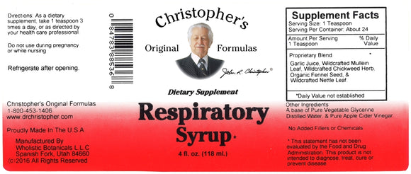 Christopher's - Respiratory Syrup
