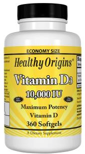 Healthy Origins - D3 10,000IU (360 sg)
