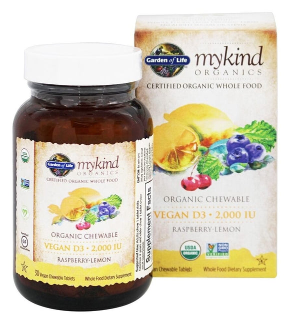 Garden Of Life - myKind D-3 2000iu  (30 vegan chewable tablets)
