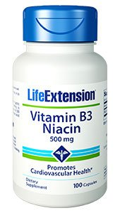 Life Extension - Vitamin B3 Niacin (500mg 100c)