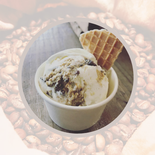 Artisan Ice Cream with Artisan Roasted Coffee Beans