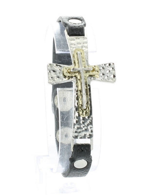 Triple Cross Snap Bracelet