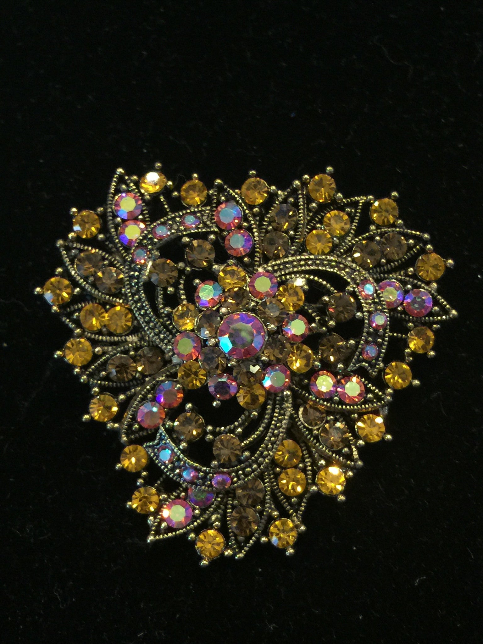 Triangle Cluster Brooch