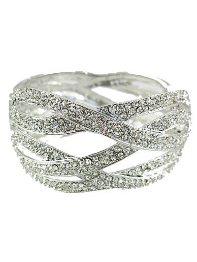 Double Braided Crystal Bangle