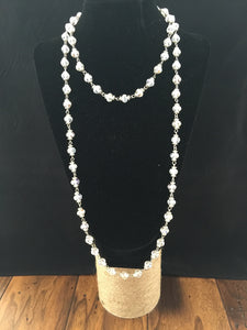 Clear Crystal Bead Necklace