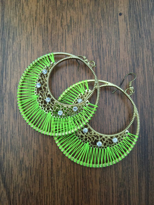 Thread Hoop Earrings