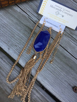 Long Royal Tassel Necklace Set