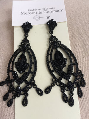 Black Lace Crystal Jewelry