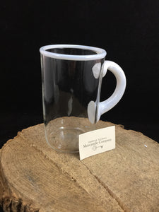 Clinton Glass Mug White Rim