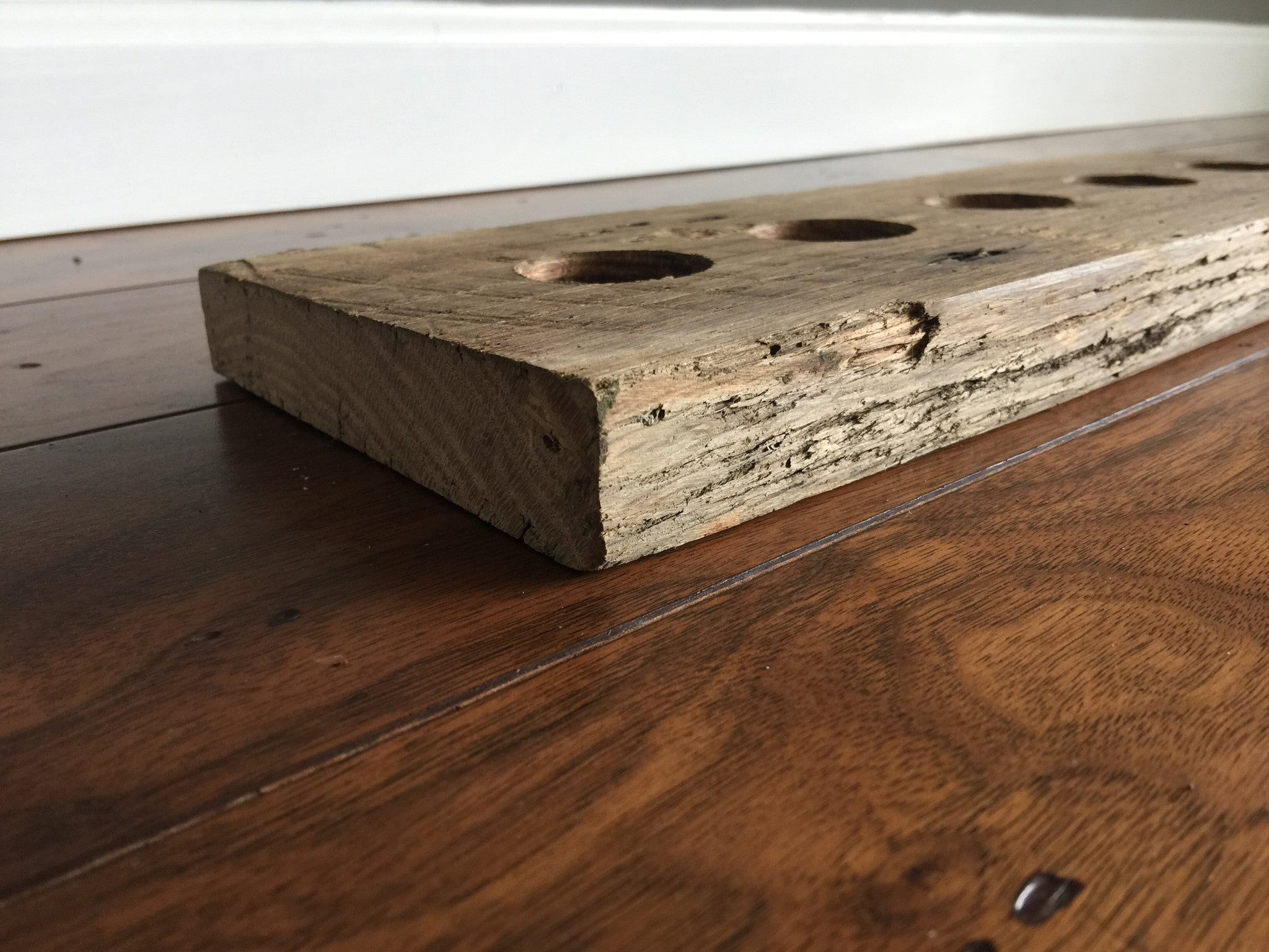 Reclaimed Wood Dual Sided Tea Light Holder